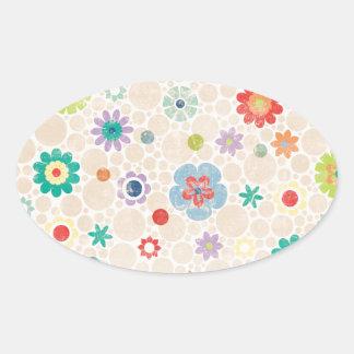 paper030 FLORAL FLOWERS CARTOON VECTORS BACKGROUND Sticker