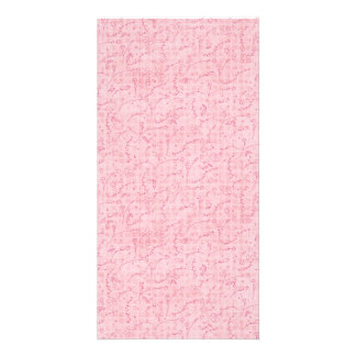 PAPER040 PINK FLORAL BACKGROUNDS GIRLY HAPPY SPRIN CUSTOM PHOTO CARD