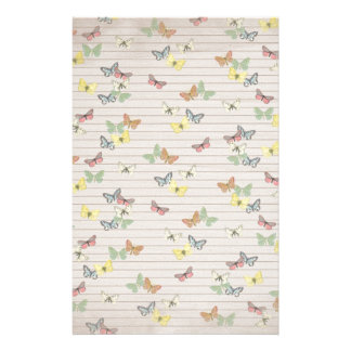 PAPER041 CUTE NEUTRAL YELLOW MINT GREEN LIGHT BROW STATIONERY