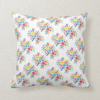 PAPER558 BRIGHT COLORFUL HAPPY FLOWERS CARTOON MEX PILLOWS
