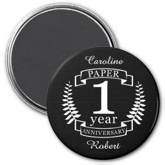 Paper 1st wedding anniversary 1 year magnet