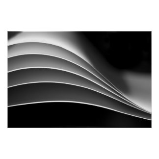 Paper, a different view - black & white abstract poster