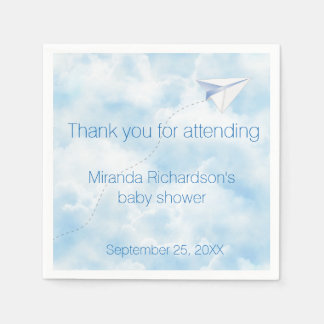 Paper Airplane Baby Shower Design Paper Napkin