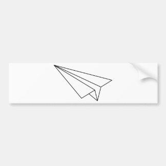 Paper Airplane Bumper Sticker