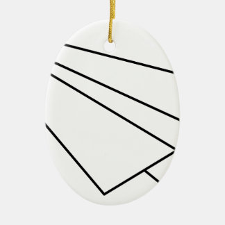 Paper Airplane Ceramic Ornament