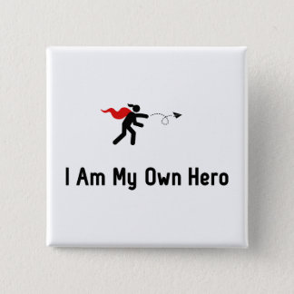 Paper Airplane Hero 2 Inch Square Button