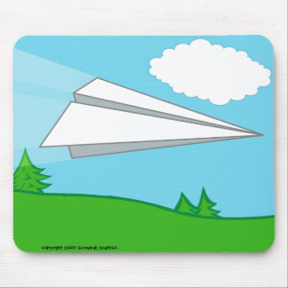 Paper Airplane Mousepad