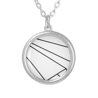 Paper Airplane Silver Plated Necklace