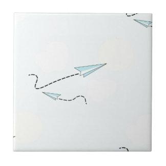 paper airplanes ceramic tile