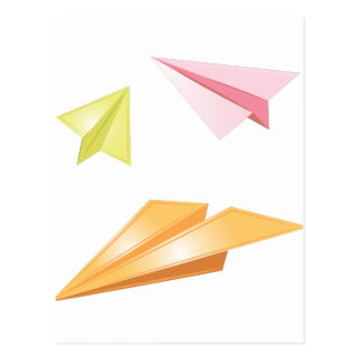 Paper Airplanes Postcard