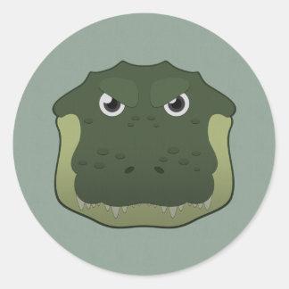 Paper Alligator Classic Round Sticker