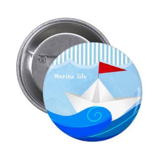 Paper Boat button