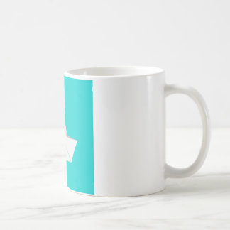 Paper boat classic white coffee mug