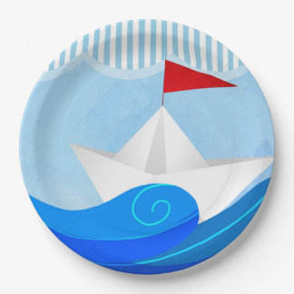 Paper Boat paper plates 9 Inch Paper Plate