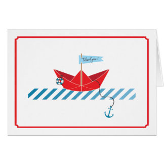 Paper Boat  |  Thank You Card