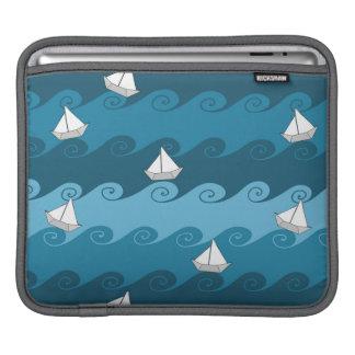 Paper Boats Pattern iPad Sleeves