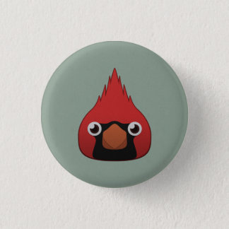 Paper Cardinal 1 Inch Round Button