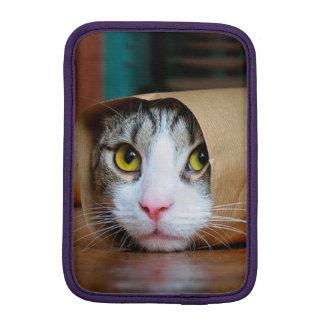 Paper cat - funny cats - cat meme - crazy cat iPad mini sleeve