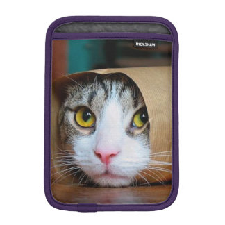 Paper cat - funny cats - cat meme - crazy cat iPad mini sleeve