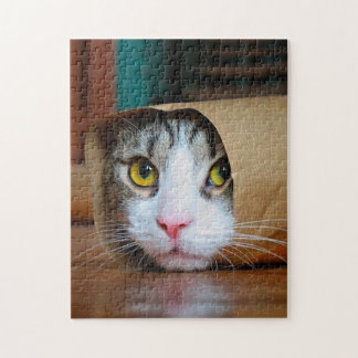 Paper cat - funny cats - cat meme - crazy cat jigsaw puzzle