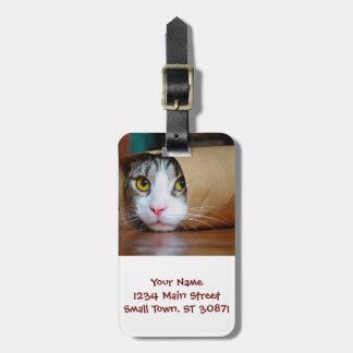 Paper cat - funny cats - cat meme - crazy cat luggage tag