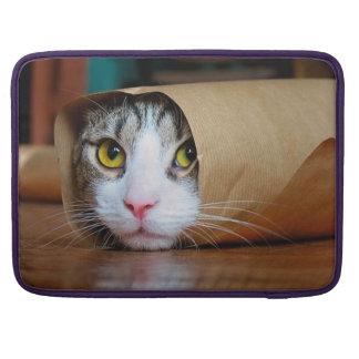 Paper cat - funny cats - cat meme - crazy cat MacBook pro sleeve