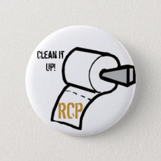 paper, Clean It Up!, 2 Inch Round Button