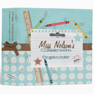 Paper Clips and Crayons Classroom Organizer Binder