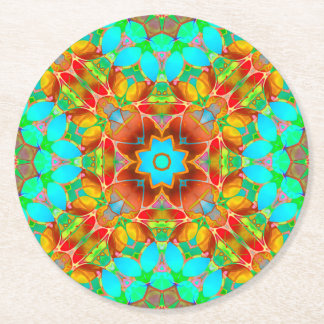 Paper Coaster Floral Fractal Art G410