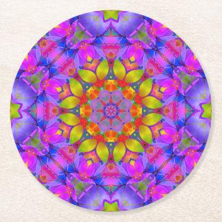 Paper Coaster Floral Fractal Art G445