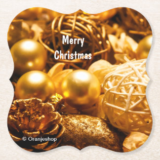 Paper Coasters with Christmas Decoration