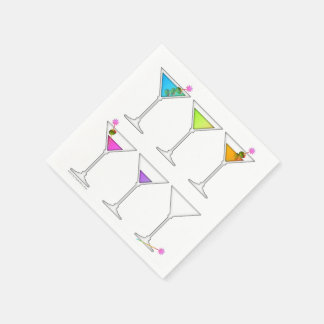 PAPER COCKTAIL NAPKINS - DISAPPEARING MARTINI PAPER NAPKIN