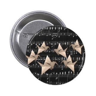 Paper cranes 2 inch round button