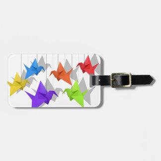 Paper cranes bag tag