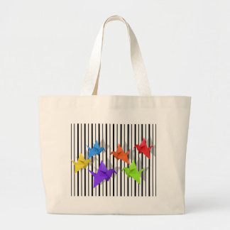 Paper cranes large tote bag