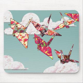 Paper Cranes Mouse Pad