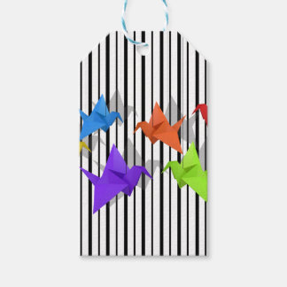 Paper cranes pack of gift tags