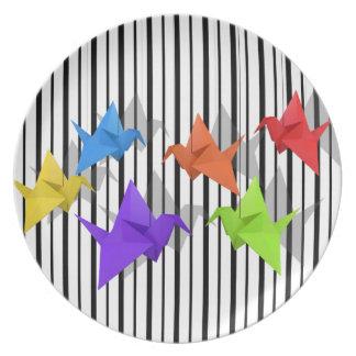 Paper cranes party plate