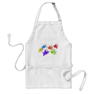Paper cranes standard apron