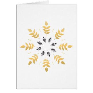 Paper creative greeting with Gold mandala Card