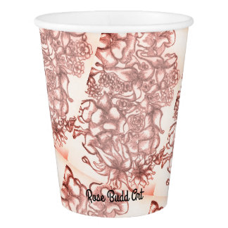 paper cup 9oz pink