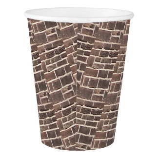 Paper Cup: Bricks Paper Cup