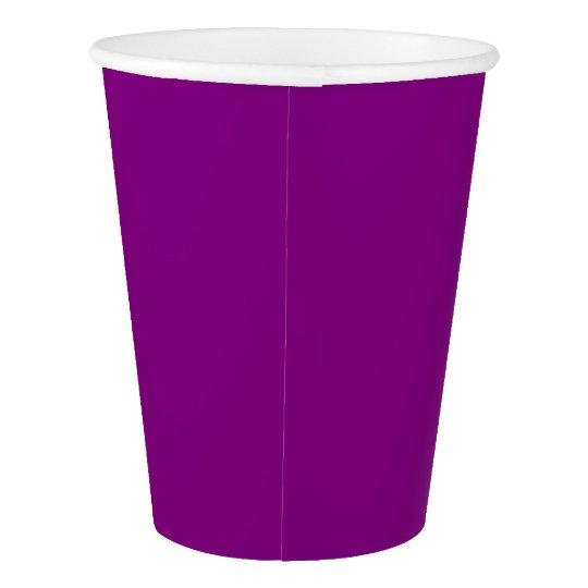 Paper Cup: Plain Purple Paper Cup