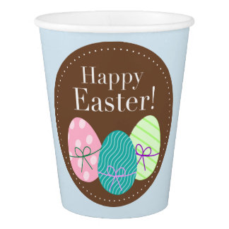 Paper Cup With Easter Eggs
