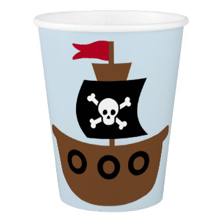 Paper Cup with pirate ship
