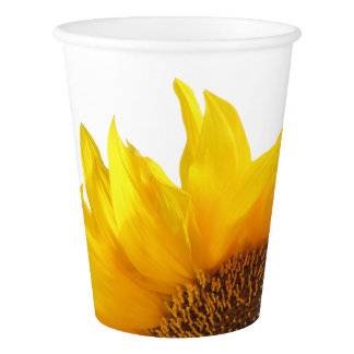paper cup with sunflower design