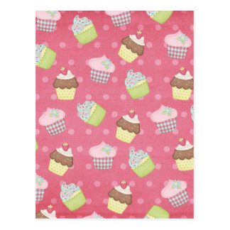 Paper cupcakes postcard