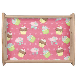 Paper cupcakes service trays