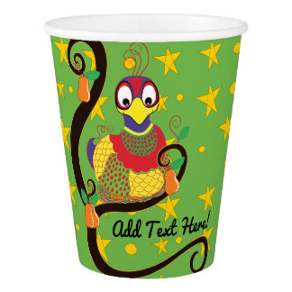 "Paper Cups ""Partridge in a Pear Tree""  9 oz."