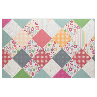 paper cut flower diamonds fabric